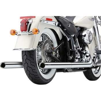 Cobra Chrome Dual Exhaust System with Billet Tips for 2012-2017 Harley Softail