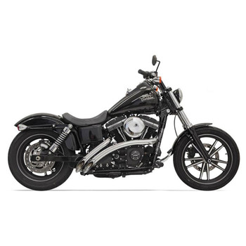Bassani Radial Sweepers Exhaust for Harley - Chrome with Chrome Shields