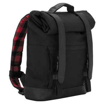 Burly Roll Top Backpack - Black