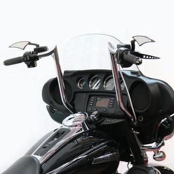 """Paul Yaffe Bagger Nation 16"""" Monkey Bagger Bars for 1986-2018 Harley Touring - Chrome"""