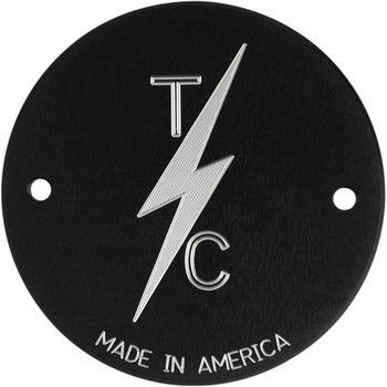 Thrashin Supply 2-Hole Points Cover for Harley - Black
