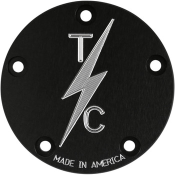Thrashin Supply 5-Hole Points Cover for Harley Twin Cam - Black