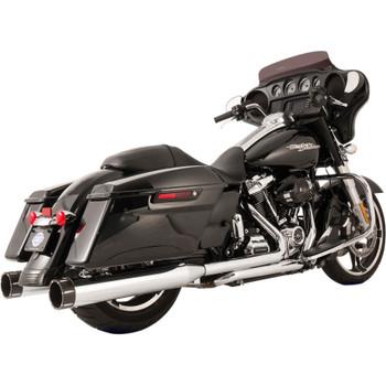 S&S Tracer El Dorado True Dual Exhaust System for 2017-2018 Harley Touring - Chrome