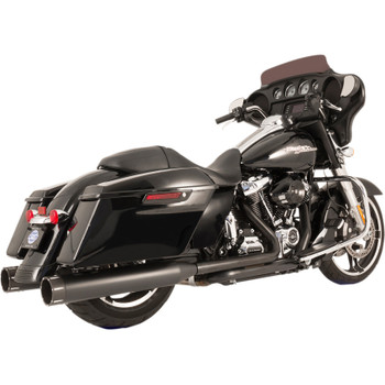S&S Tracer El Dorado True Dual Exhaust System for 2017-2018 Harley Touring - Black