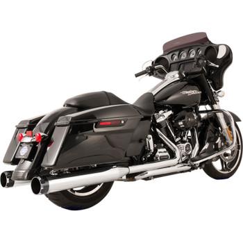 S&S Thruster El Dorado True Dual Exhaust System for 2017-2018 Harley Touring - Chrome