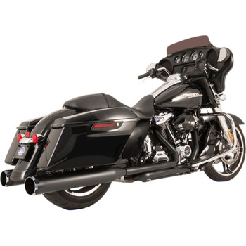 S&S Thruster El Dorado True Dual Exhaust System for 2017-2018 Harley Touring - Black