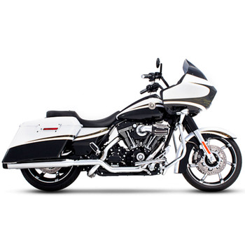 "Rinehart 3.5"" Xtreme True Dual Exhaust for 2009-2016 Harley Touring - Chrome with Black Tips"
