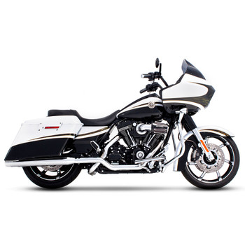 """Rinehart 3.5"""" Xtreme True Dual Exhaust for 2009-2016 Harley Touring - Chrome with Chrome Tips"""