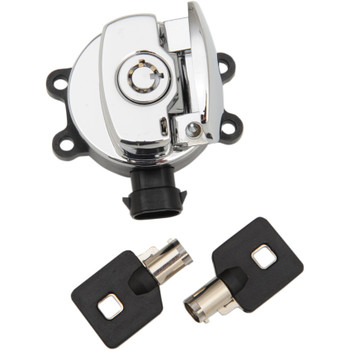 Twin Power Ignition Switch for 2011-2017 Harley Dyna & Softail - Chrome