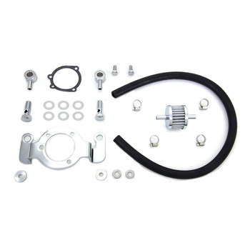 V-Twin Air Cleaner Crankcase Breather & Bracket Kit for 1993-2015 Harley Big Twin