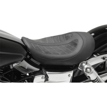 Mustang Revere Skyline Signature Series Fred Kodlin Solo Seat for 2006-2017 Harley Dyna - Black