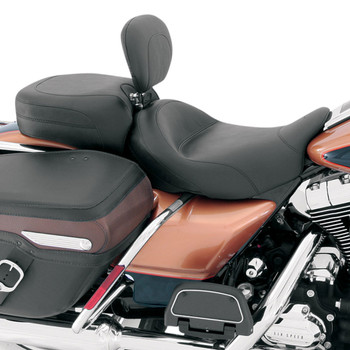 Mustang Standard Touring Seat w/ Driver Backrest for 2008-2018 Harley Touring - Original