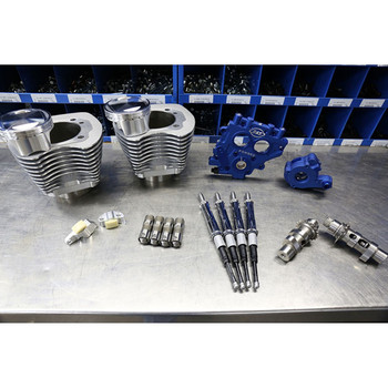 """S&S 100"""" Power Package Kit Chain Drive for 1999-2006 Harley Twin Cam - Silver"""