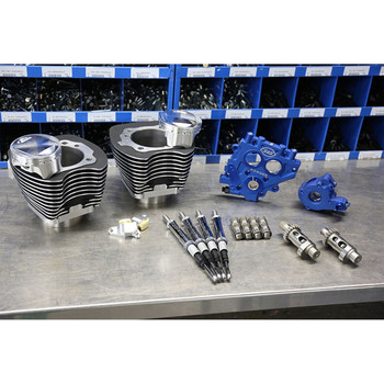 """S&S 100"""" Power Package Kit Chain Drive for 1999-2006 Harley Twin Cam - Black"""