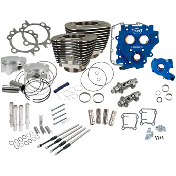 """S&S 110"""" Power Package Kit Chain Drive for 2000-2017 Harley Twin Cam - Black"""