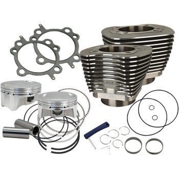 """S&S Sidewinder 4"""" Big Bore Kit 110"""" for 2007-2017 Harley Twin Cam - Black"""