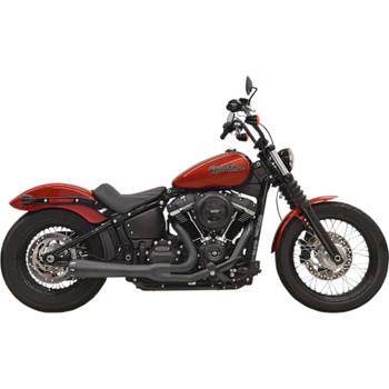 Bassani Road Rage 3 Black Exhaust for 2018 Harley Street Bob, Slim and Lowrider
