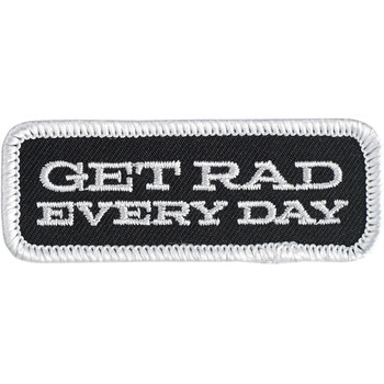 Biltwell Get Rad Patch - Black/White/Grey