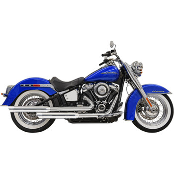Bassani Staggered Exhaust for 2018 Harley Softail Heritage and Deluxe - Chrome