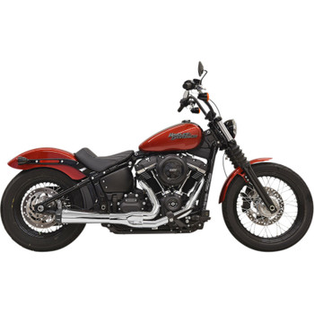 Bassani Road Rage 3 Exhaust for 2018 Harley Softail - Chrome