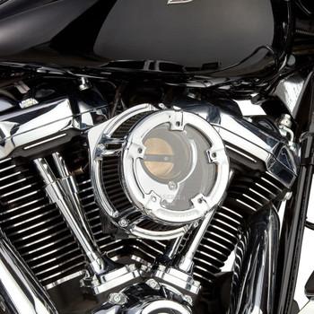 Arlen Ness Method Clear Series Air Cleaner for 2008-2017 Harley* - Chrome