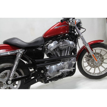 V-Twin Mfg. Shotgun Style Exhaust for 2004-2018 Harley Sportster - Black