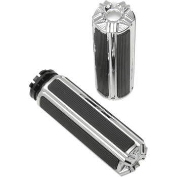 Arlen Ness 10-Gauge Grips for Harley - Chrome