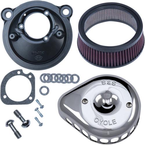 S&S Mini Teardrop Stealth Air Cleaner Kit for 2007-2018 Harley Sportster - Chrome