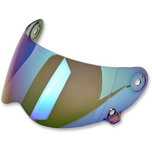 Biltwell Lane Splitter Antifog Shield - Rainbow Mirror