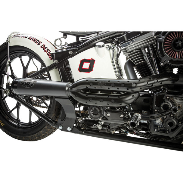 Roland Sands Track 2-Into-1 Exhaust System for 1986-2016 Harley Softail