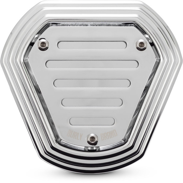 Burly Hex Air Cleaner for 2008-2016 Harley Touring and 2016-2017 Softail - Chrome