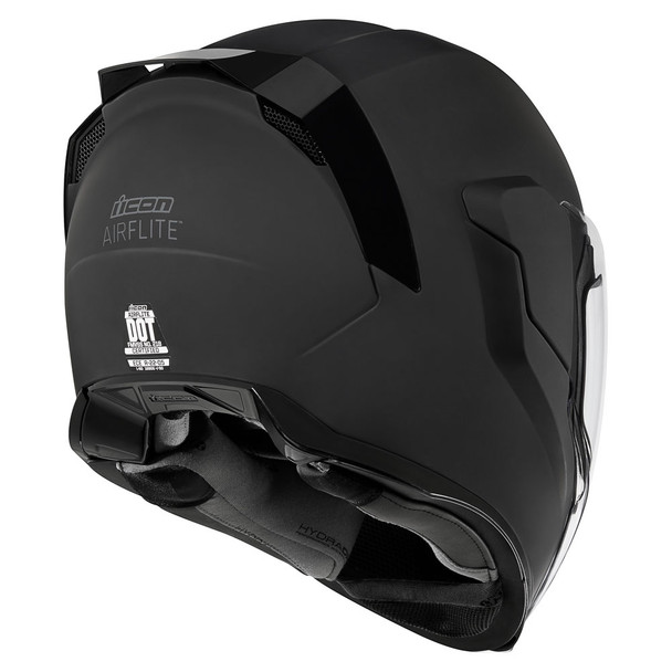 Icon Airflite Helmet Black Rubatone Get Lowered Cycles