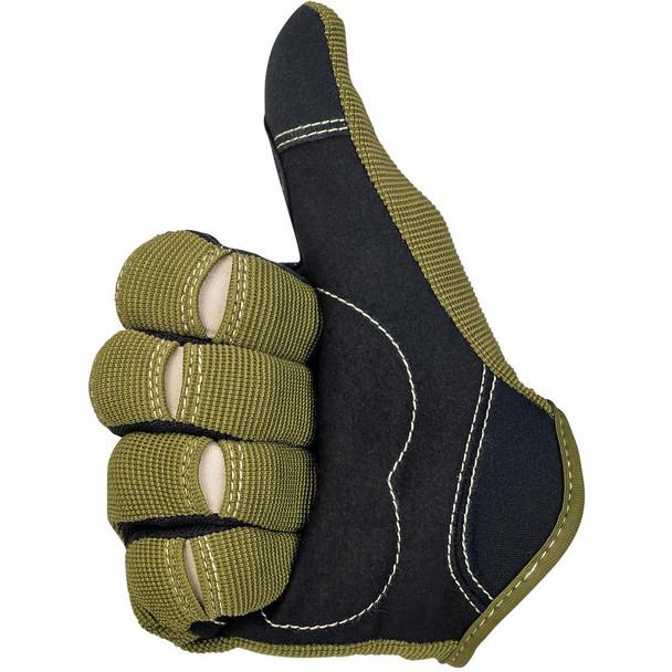 Biltwell Moto Gloves - Olive/Black