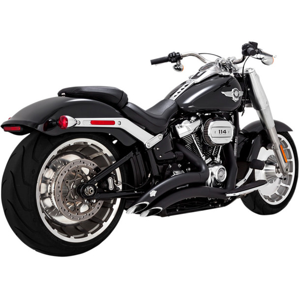 Vance & Hines Big Radius Exhaust for 2018 Harley Softail Breakout and Fat Boy - Black