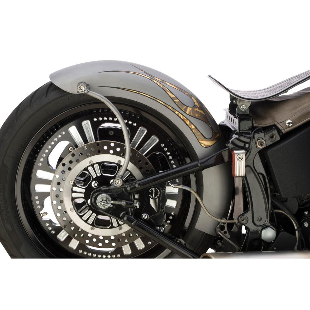 Custom Chrome \'Rigid-Style\' Lucky Sucker Rear Fender for Harley ...