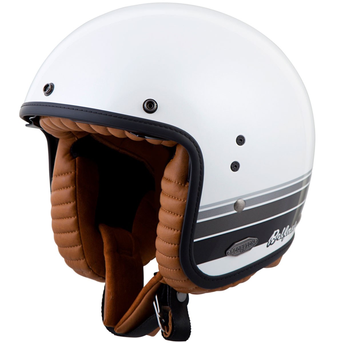 Design Helm scorpion belfast blanco open motorcycle helmet get lowered cycles