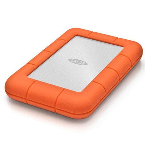 LaCie 2TB Rugged Mini Portable External Hard Drive | Orange