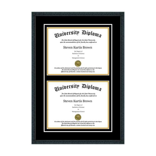 Double  Diploma Frame
