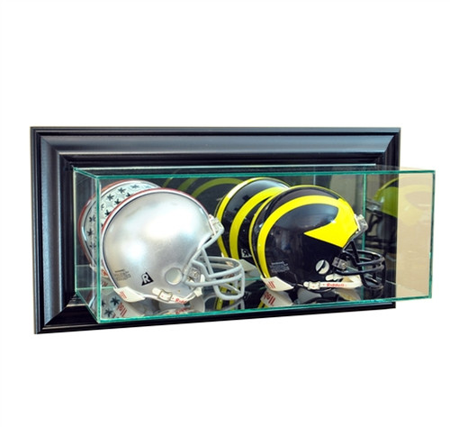 Wall Mounted Double Mini Helmet Dispaly Case