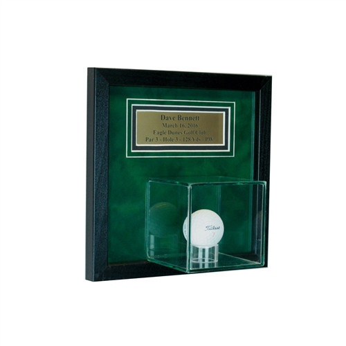 Wall Mounted Golf Ball Hole In One Personalized Display Case