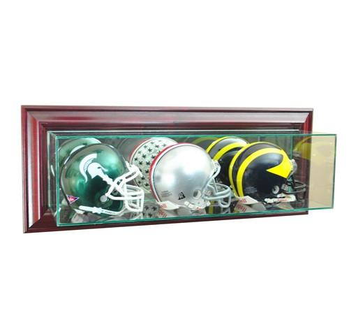 Wall Mounted Triple Mini Helmet Display Case