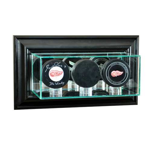 Wall Mounted Triple Puck Display Case