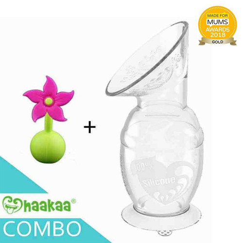 Haakaa Silicone Breast Pump 150ml with Flower Stopper