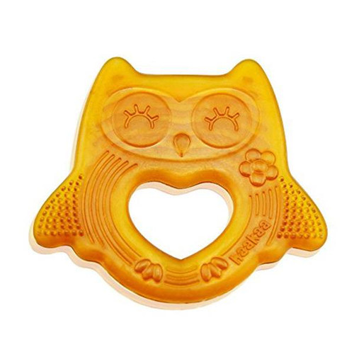 Haakaa Natural Owl Smiling Teether BPA FREE