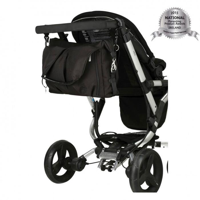 Lassig Green Label Neckline Baby Changing Bag Black On Trolly