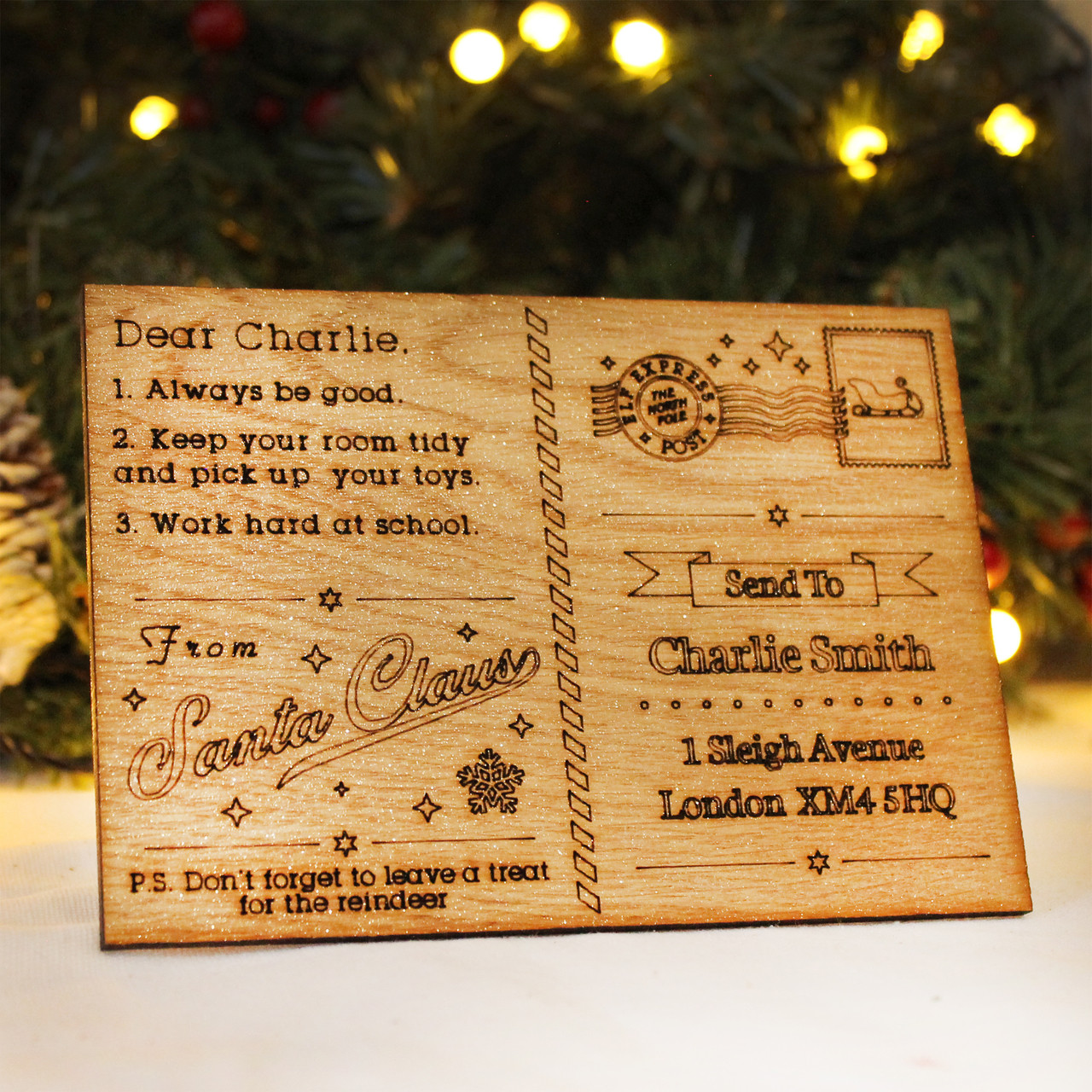 Postcard From Santa  Personalised Christmas Letter For Your Child