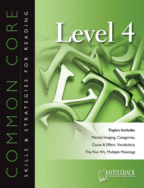 Common Core Skills & Strategies for Reading Level 4 (Digital Download)