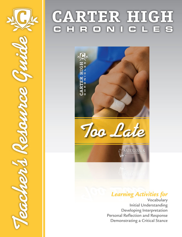 Too Late Teacher's Resource Guide (Digital Download)
