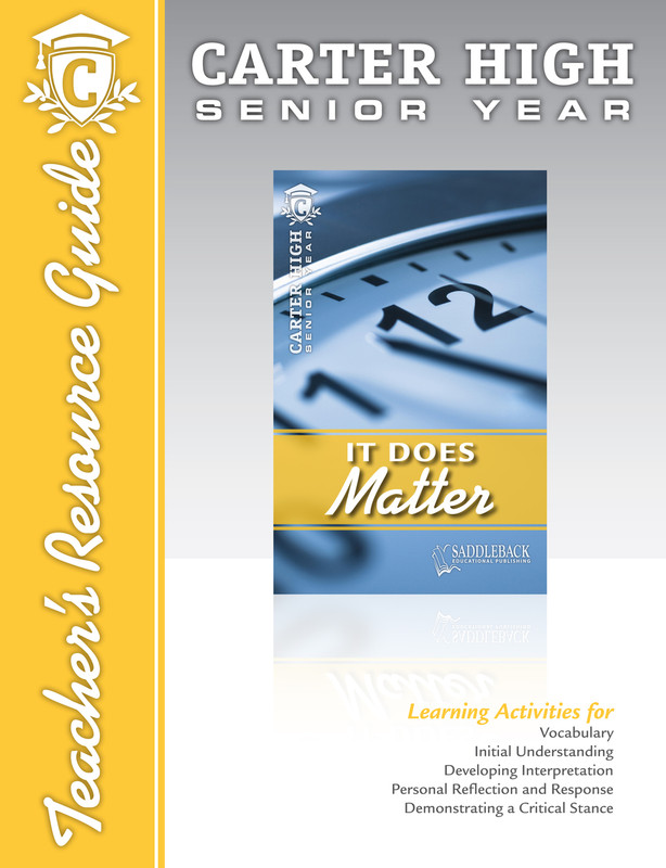 It Does Matter Teacher's Resource Guide (Digital Download)