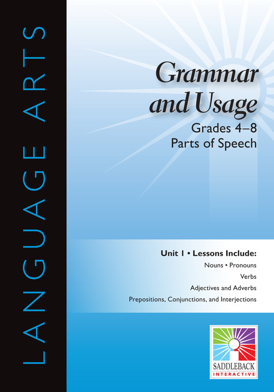 Parts of Speech- Grades 4-8 (Digital Download)